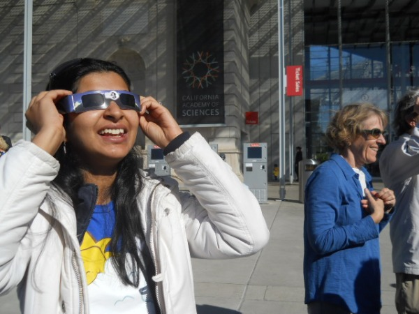 Looking at the Solar Eclipse, May 20 in San Francisco