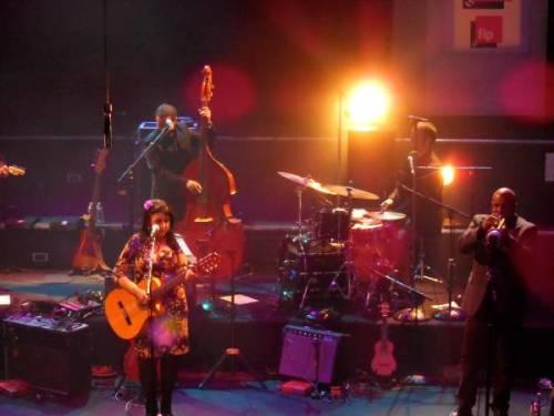 During her concert in Radio France, Feb. 2013.  Photo: Julieta Schneebeli.