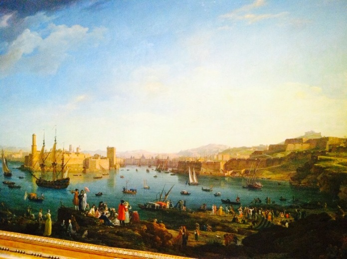 The way Marseille looked in the 18th Century. Así era Marsella en el siglo XVIII.