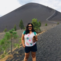 Hiking up Cinder Cone in Northern California