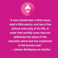 Johann Wolfgang Goethe said this about culture and the human soul.