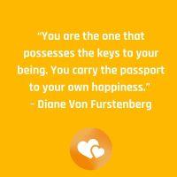 Diane Von Furstenberg said this.